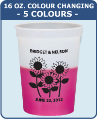16 Oz Colour Changing Cup - 5 Colours